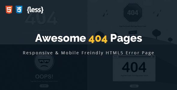 Awesome 404 error html template by psdboss themeforest awesome 404 error html template 404 pages specialty pages maxwellsz
