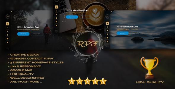 RPF - Creative Responsive Personal Resume / Portfolio by yahyaessam