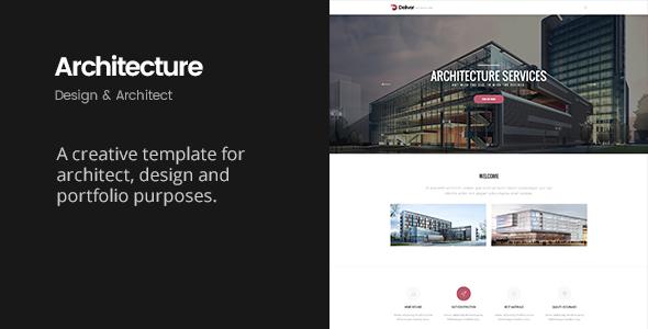 Deliver Architecture | Portfolio, Design & Architect Template by Zawia