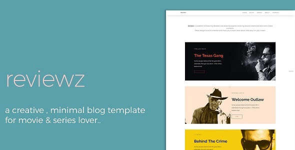 reviewz responsive film series review blog template by thecreo themeforest. Black Bedroom Furniture Sets. Home Design Ideas