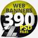 390 Web & Facebook Banners - MEGA PACK-Graphicriver中文最全的素材分享平台