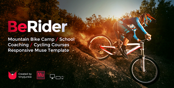 BeRider - Mountain Bike School MTB Camp Cycling Courses Responsive Muse Template