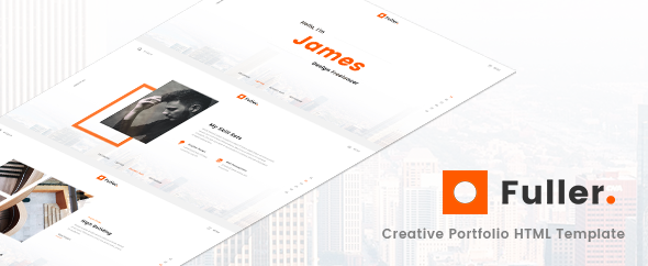 fuller creative portfolio resume agency html template by