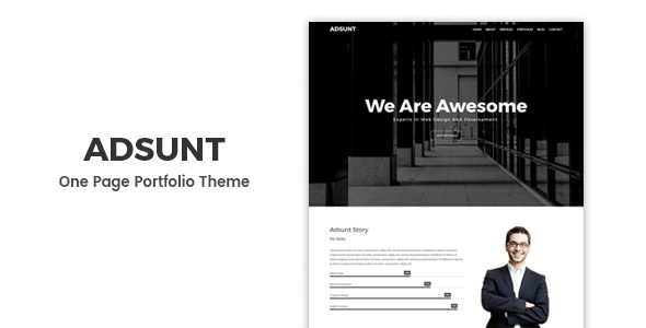 Adsunt - Personal Portfolio WordPress Theme by Prime-Themes ...