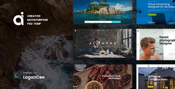 AI | Creative Multipurpose PSD Template by LoganCee | ThemeForest