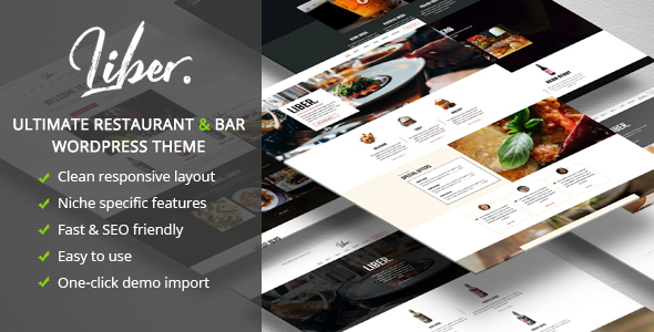 Liber ultimate restaurant bar wordpress theme by