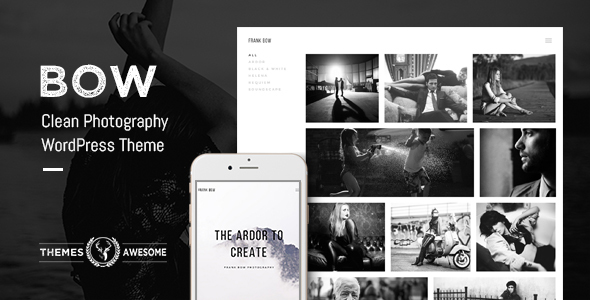 Bow Clean Photography Portfolio Theme By Themesawesome ThemeForest - Photography portfolio template