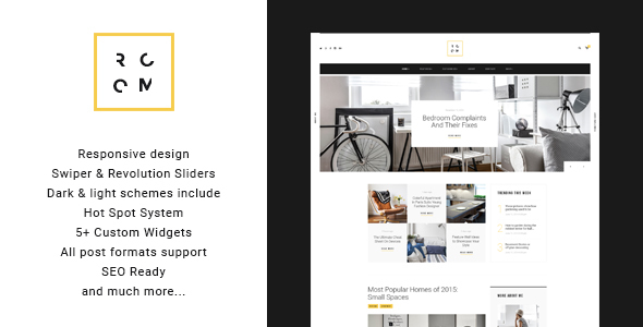 ROOM | Interior Design Blog U0026 Furniture Shop WordPress Theme   Personal Blog  / Magazine