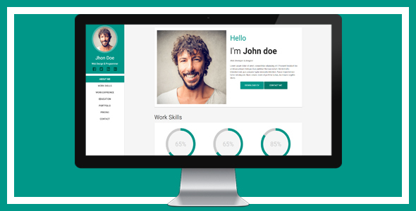 Material Cv Template By BatuhanAkkaya  Themeforest