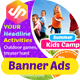 Summer Kids Camp Banner-Graphicriver中文最全的素材分享平台