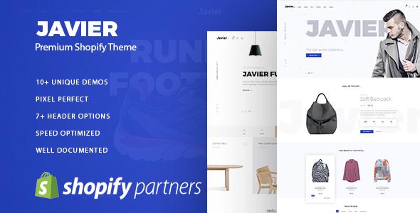 Javier Premium Shopify Theme By AmStudio ThemeForest - Premium shopify templates