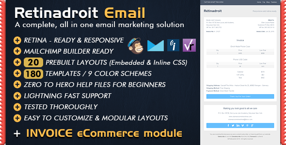 Keeping Track Of Invoices Responsive Email Template  Invoice Template  Mailchimp Email  Lic Insurance Premium Receipt Pdf with Online Receipt Maker Excel Responsive Email Template  Invoice Template  Mailchimp Email Editor Ready  Html Email Templates By Bedros Excel Invoicing Pdf