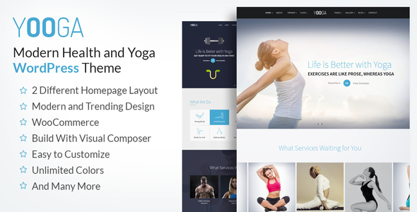 Yooga Yoga Fitness Gym WordPress Theme