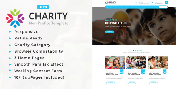 Charity Non-Profit HTML5 Template by template_path | ThemeForest