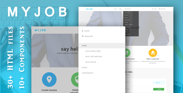 myjob job postings html5 template by creatrol themeforest