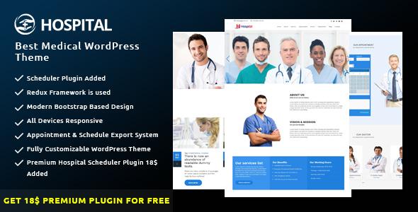 best health wordpress template  Hospital - Best Medical WordPress Theme by bdtask   ThemeForest