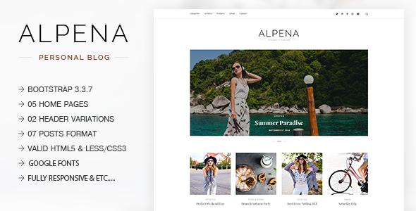 Alpena - Fashion, Lifestyle, Traveler & Storyteller Responsive ...