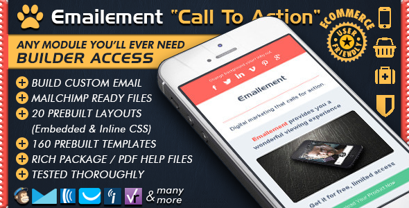 Email Template Builder Call To Action - EMAILEMENT Responsive Email ...