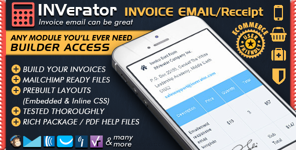 Invoice Template Receipt Ecommerce Email Marketing Online Editor - Invoice template for android phone