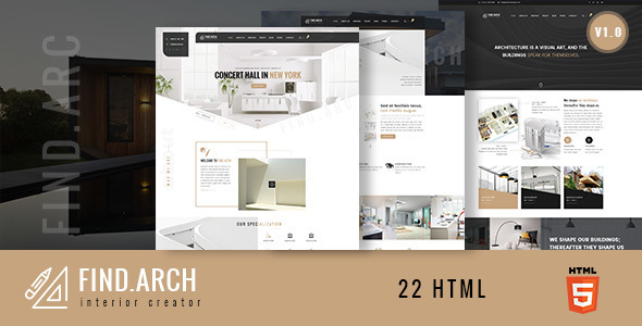 Architecture Design Template find.arc - interior design, architecture - html5 template