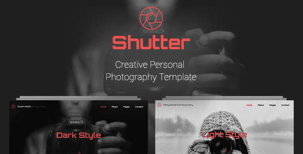 shutter creative personal photography template by pixiefy