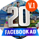 20 Facebook Ad Banners V1-Graphicriver中文最全的素材分享平台