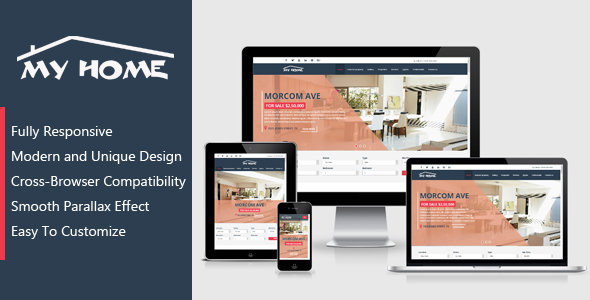 my home real estate template by perfectpixelweb themeforest