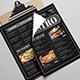 Blackboard Style Food Menu-Graphicriver中文最全的素材分享平台