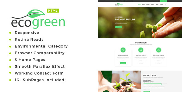 Ecogreen Environment NonProfit HTML Template By Templatepath - Non profit websites templates