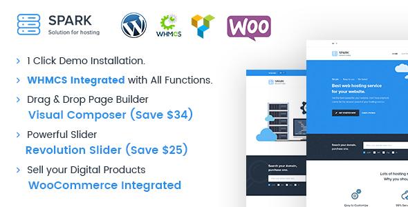 Spark - Responsive WHMCS Hosting WordPress Theme by dhrubok ...