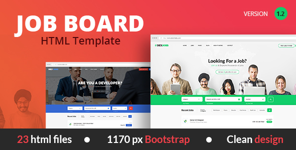 jobseek - job board html template free download  Dexjobs Job Board HTML Template by dexim | ThemeForest