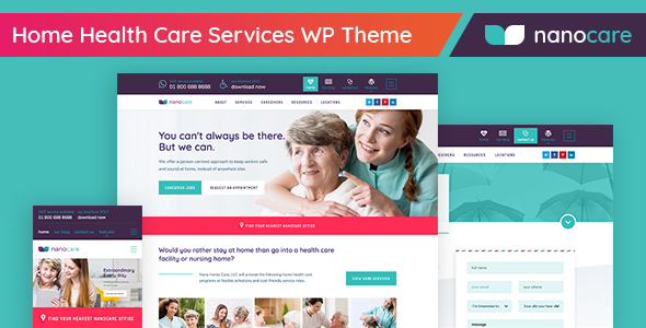 home health care medical care wordpress theme nanocare by linethemes