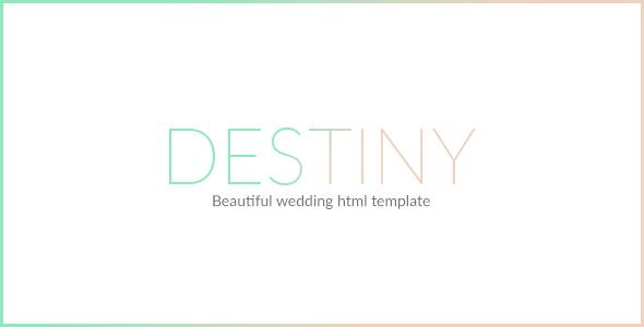 Destiny  Wedding Html Template By Mutationthemes  Themeforest