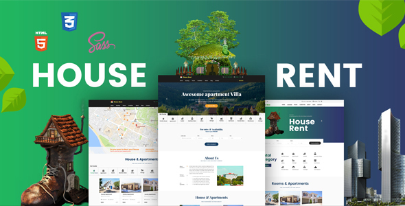 HouseRent   Multi Concept House, Apartment Rent HTML Template    Miscellaneous Site Templates