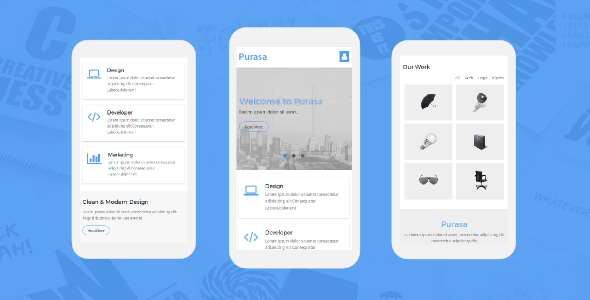 Purasa – Responsive Mobile Template by Ngetemplates | ThemeForest