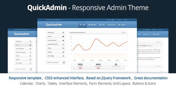 quick admin responsive admin template by webtunes themeforest