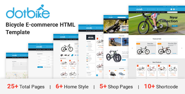 dotbike bicycle e commerce html template by dot themes themeforest. Black Bedroom Furniture Sets. Home Design Ideas