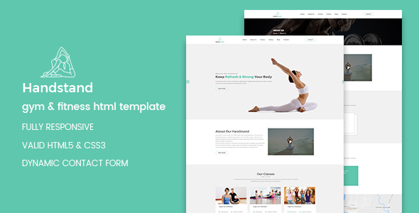 Handstand - Gym & Fitness HTML Template by codecarnival | ThemeForest