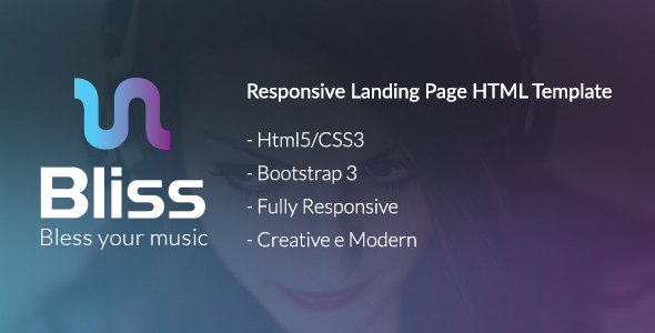 Bliss - Bootstrap Landing Page HTML Template by LorielDesign ... on bliss krekel design, bliss garden design, bliss and love designs,