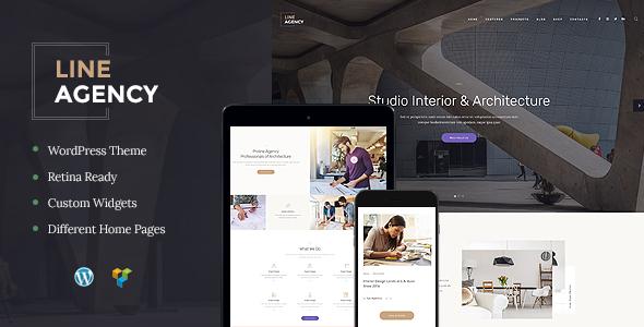 Line Agency | Interior Design U0026 Architecture WordPress Theme   Business  Corporate