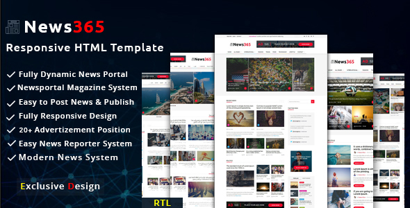 News  Newspaper Magazine Blog Html Multipurpose Template With