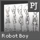 Pixeljunkyard's Robot Boy Character Sheet