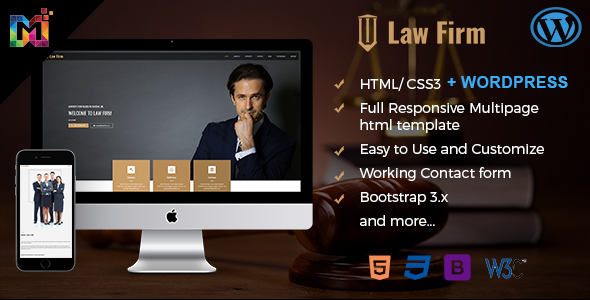 Responsive Law Firm Website Template by multipurposethemes ...