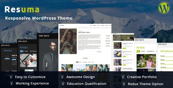 resumã in resuma resume portfolio responsive theme by