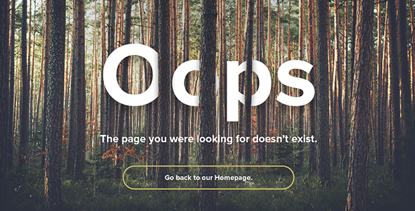 natural forest responsive 404 error template by squirrellabs