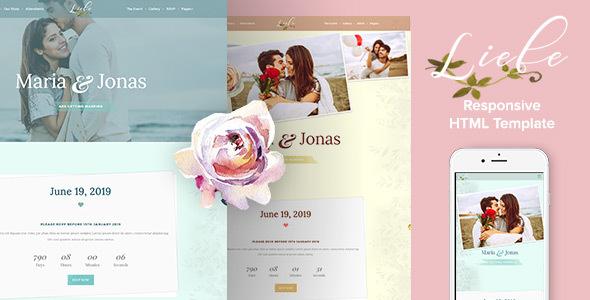 Liebe responsive html wedding template by ingridk themeforest liebe responsive html wedding template wedding site templates junglespirit Choice Image