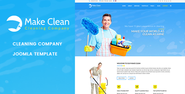 Make clean cleaning company joomla template by jlvextension make clean cleaning company joomla template business corporate flashek Gallery