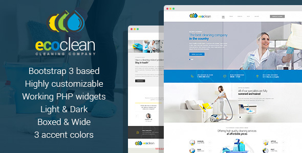 ecoclean cleaning company html template by mwtemplates themeforest