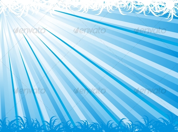 Blue abstract ray vector background - GraphicRiver Item for Sale