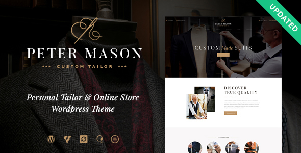 Peter mason custom tailoring and clothing store for Wordpress t shirt store theme free